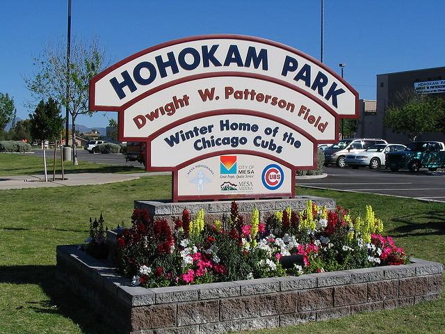 Welcome sign to Hohokam Park